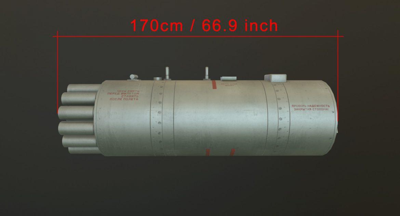 rocket launcher b-8v20a 3d model 3ds max fbx obj 302318