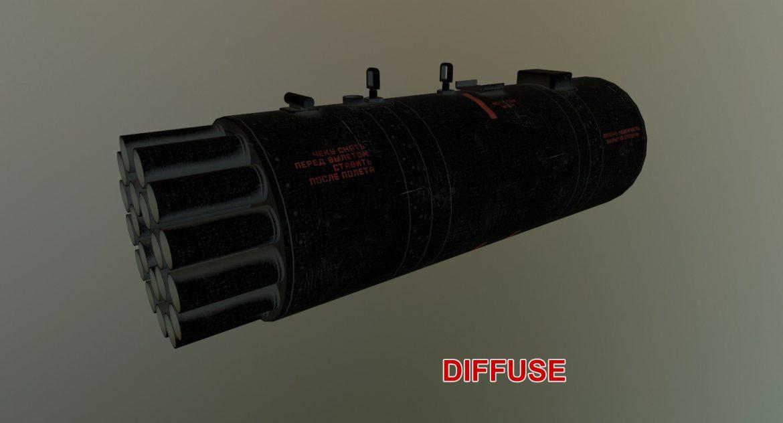 rocket launcher b-8v20a 3d model 3ds max fbx obj 302326