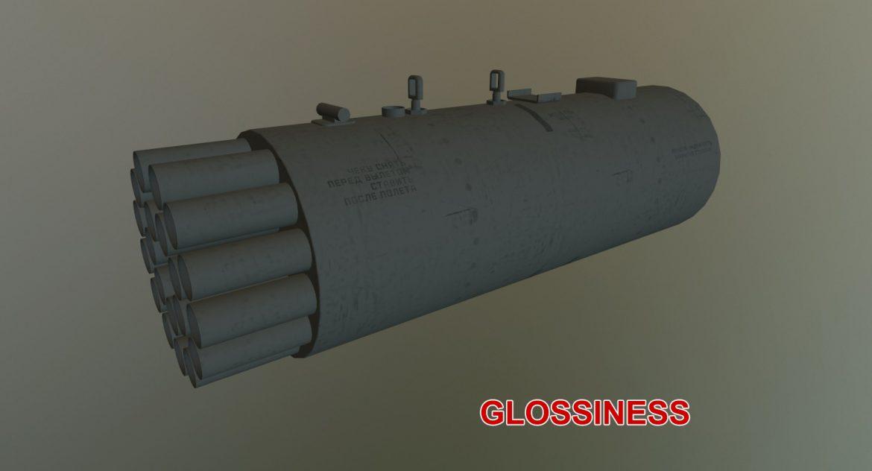 rocket launcher b-8v20a 3d model 3ds max fbx obj 302327