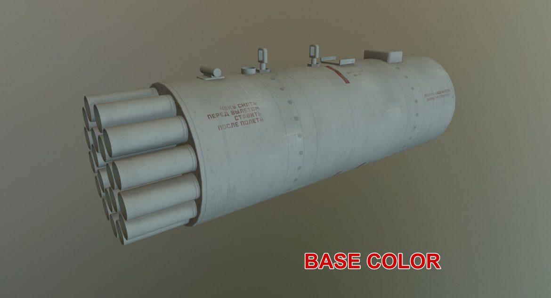 rocket launcher b-8v20a 3d model 3ds max fbx obj 302329
