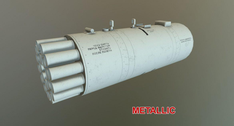 rocket launcher b-8v20a 3d model 3ds max fbx obj 302330