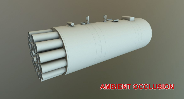rocket launcher b-8v20a 3d model 3ds max fbx obj 302332