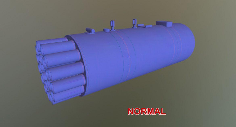 rocket launcher b-8v20a 3d model 3ds max fbx obj 302333