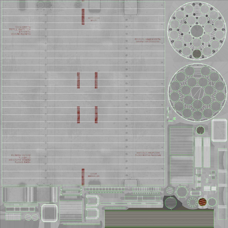rocket launcher b-8v20a 3d model 3ds max fbx obj 302336