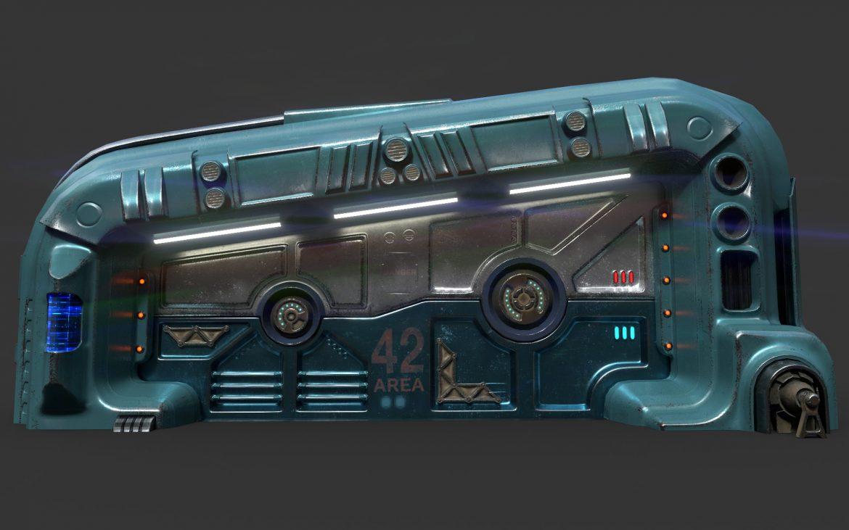 sci-fi door 06 3d model 3ds max fbx obj 302368
