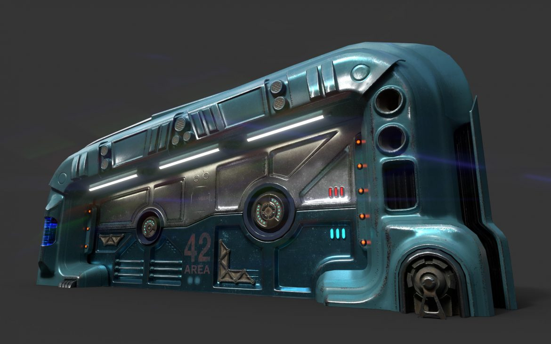 sci-fi door 06 3d model 3ds max fbx obj 302369