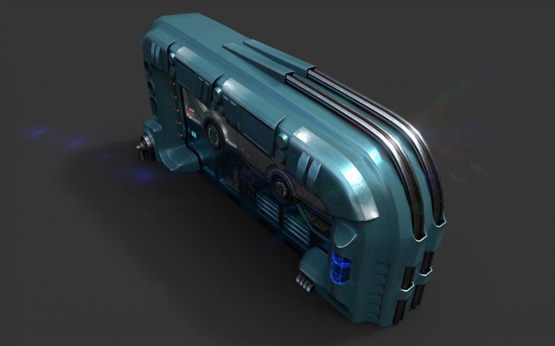 sci-fi door 06 3d model 3ds max fbx obj 302371