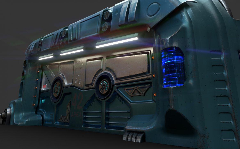 sci-fi door 06 3d model 3ds max fbx obj 302372
