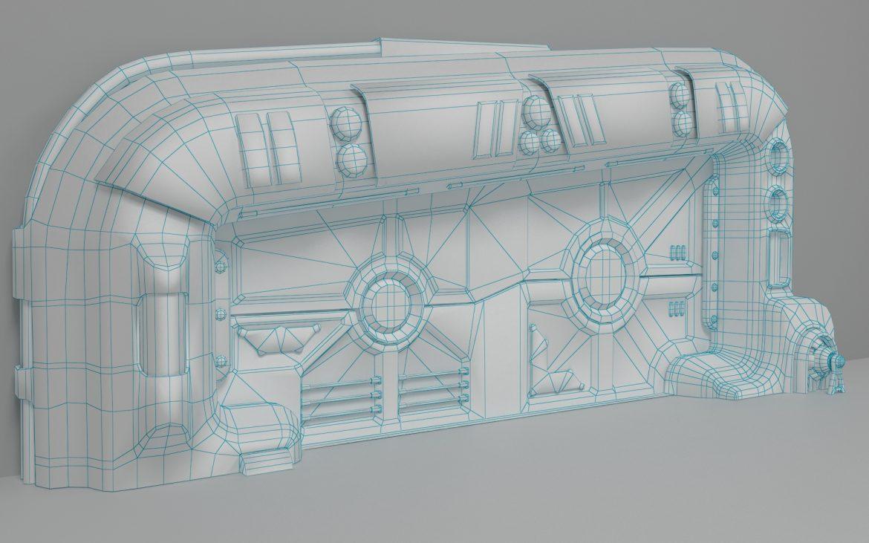 sci-fi door 06 3d model 3ds max fbx obj 302373