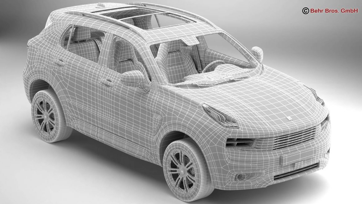 lynk & co 01 2018 3d model 3ds max fbx c4d