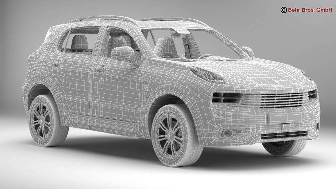lynk & co 01 2018 3d model 3ds max fbx c4d lwo ma mb obj 302461