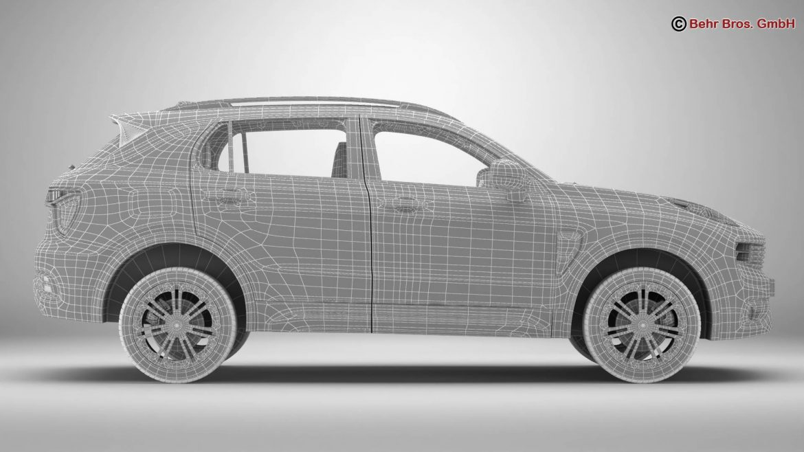 lynk & co 01 2018 3d model 3ds max fbx c4d lwo ma mb obj 302465