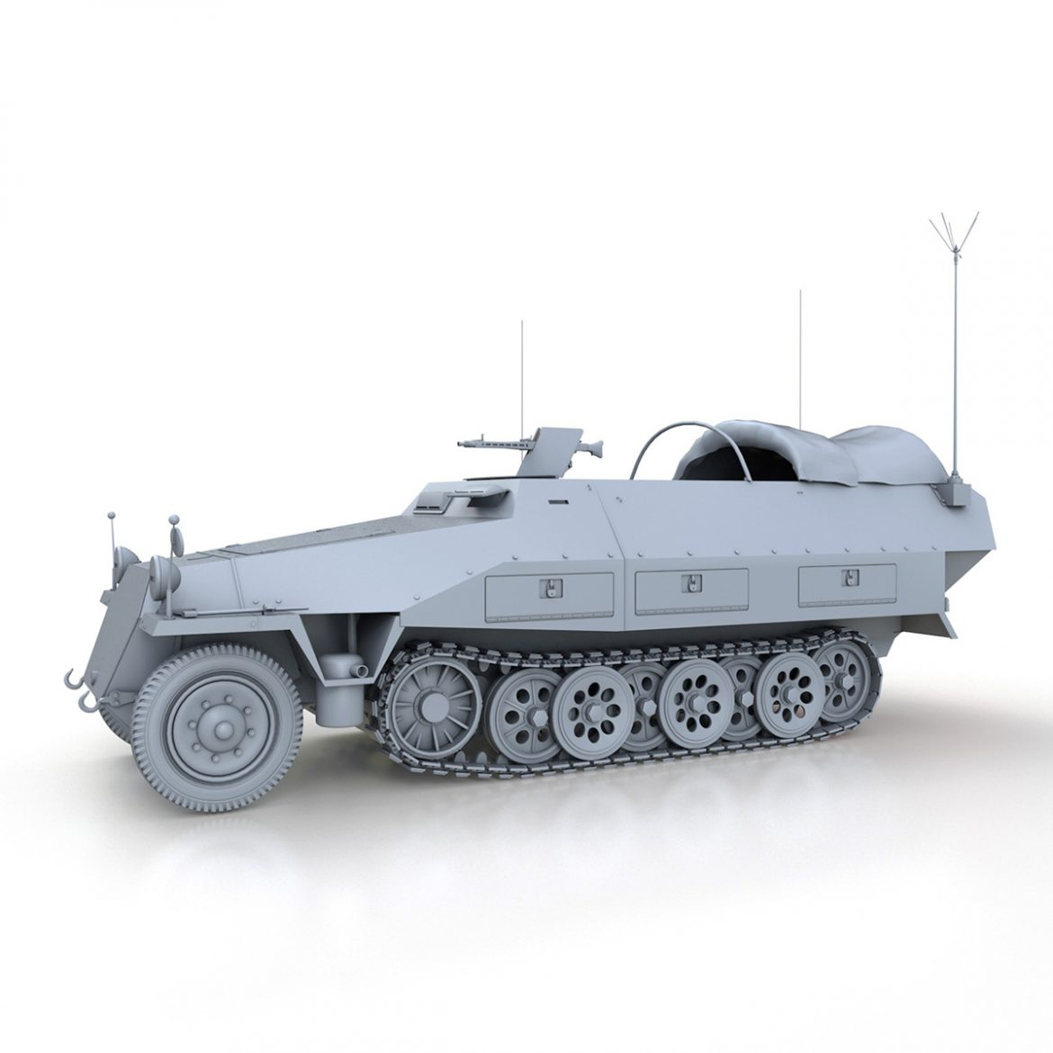 sd.kfz 251/3 ausf.d – communications vehicle 3d model 3ds fbx c4d lwo obj 302590