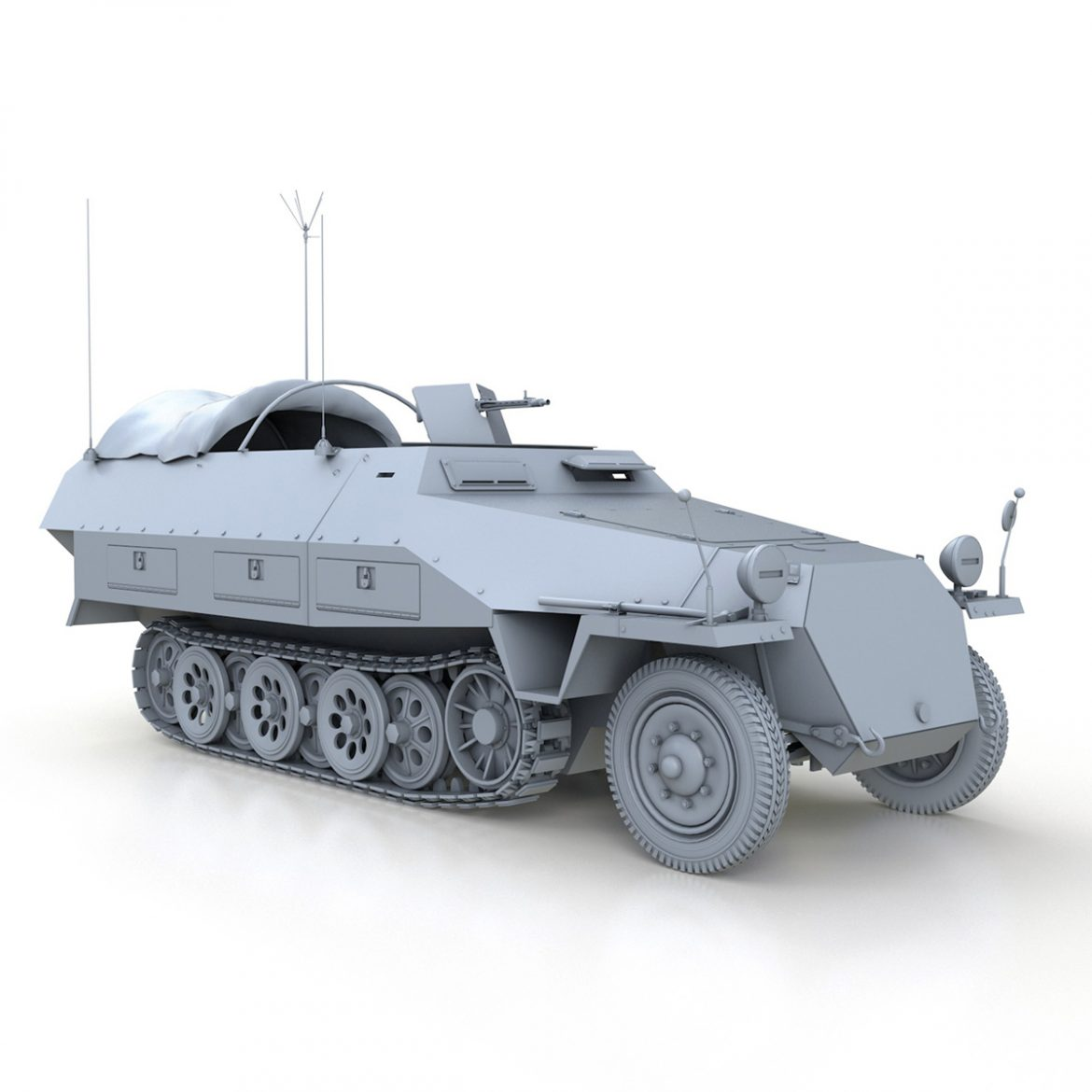 sd.kfz 251/3 ausf.d – communications vehicle 3d model 3ds fbx c4d lwo obj 302596