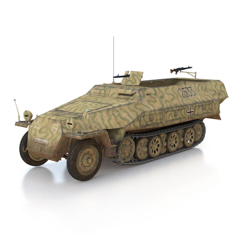 sd.kfz 251/1 ausf.d – half-track – 2533 3d model 3ds fbx c4d lwo obj 302608