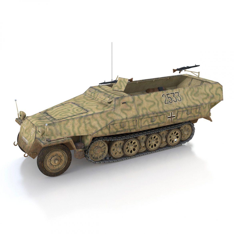 sd.kfz 251/1 ausf.d – half-track – 2533 3d model 3ds fbx c4d lwo obj 302609