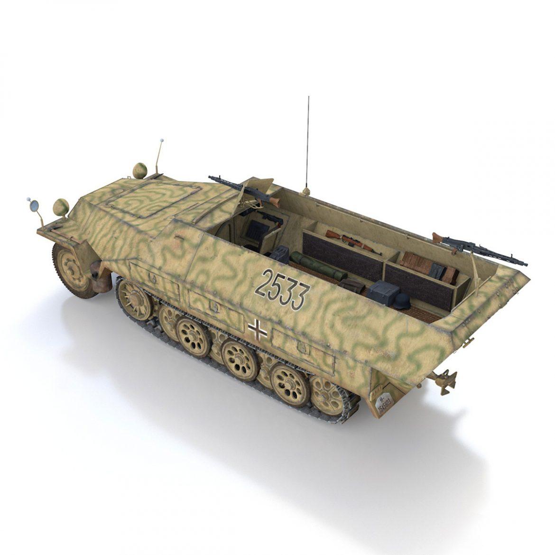 sd.kfz 251/1 ausf.d – half-track – 2533 3d model 3ds fbx c4d lwo obj 302610