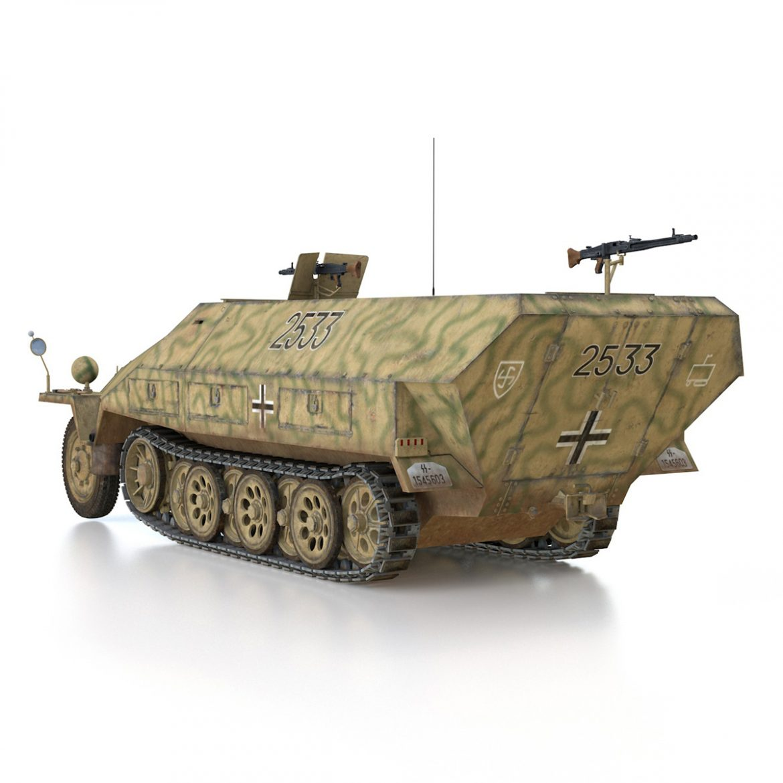 sd.kfz 251/1 ausf.d – half-track – 2533 3d model 3ds fbx c4d lwo obj 302611
