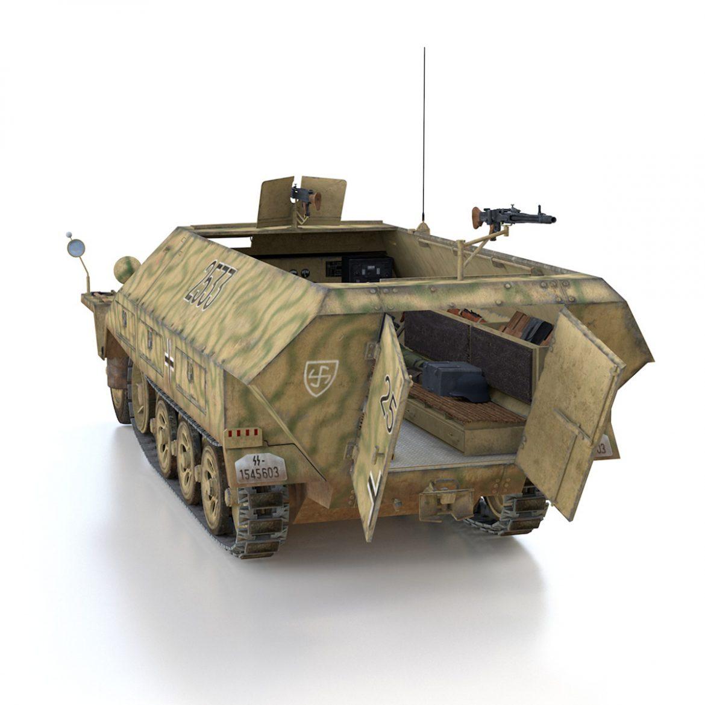 sd.kfz 251/1 ausf.d – half-track – 2533 3d model 3ds fbx c4d lwo obj 302612
