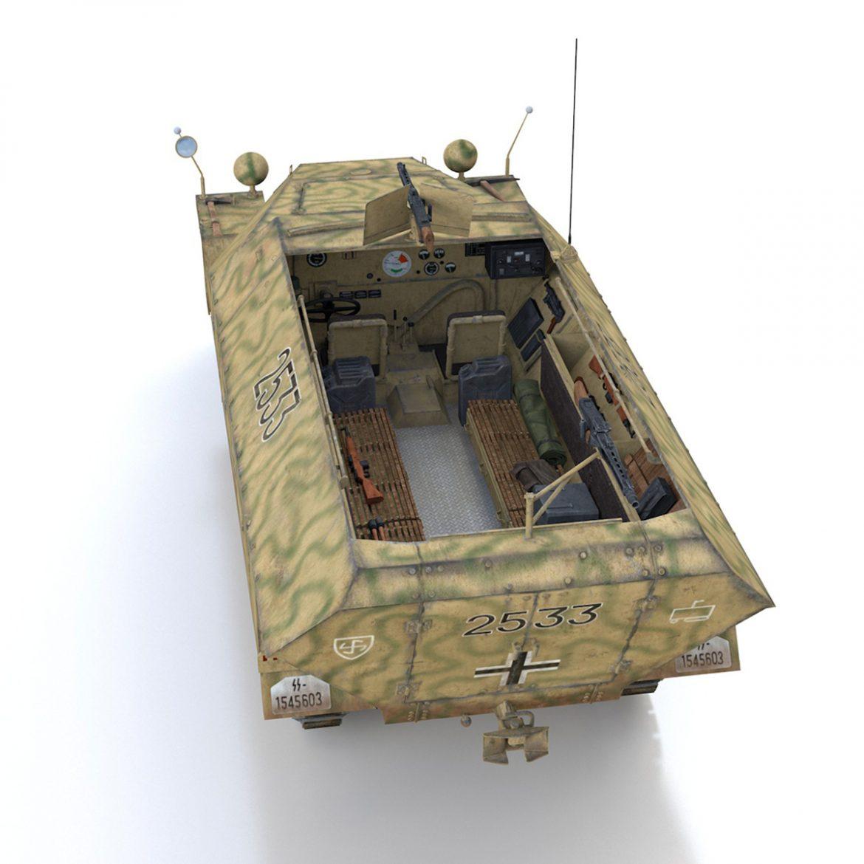 sd.kfz 251/1 ausf.d – half-track – 2533 3d model 3ds fbx c4d lwo obj 302613