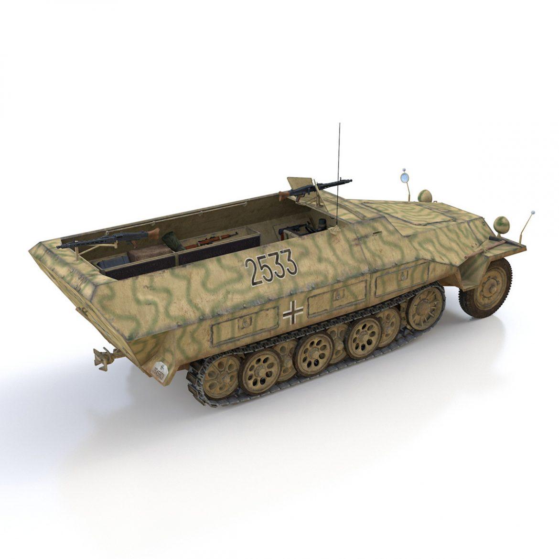 sd.kfz 251/1 ausf.d – half-track – 2533 3d model 3ds fbx c4d lwo obj 302615