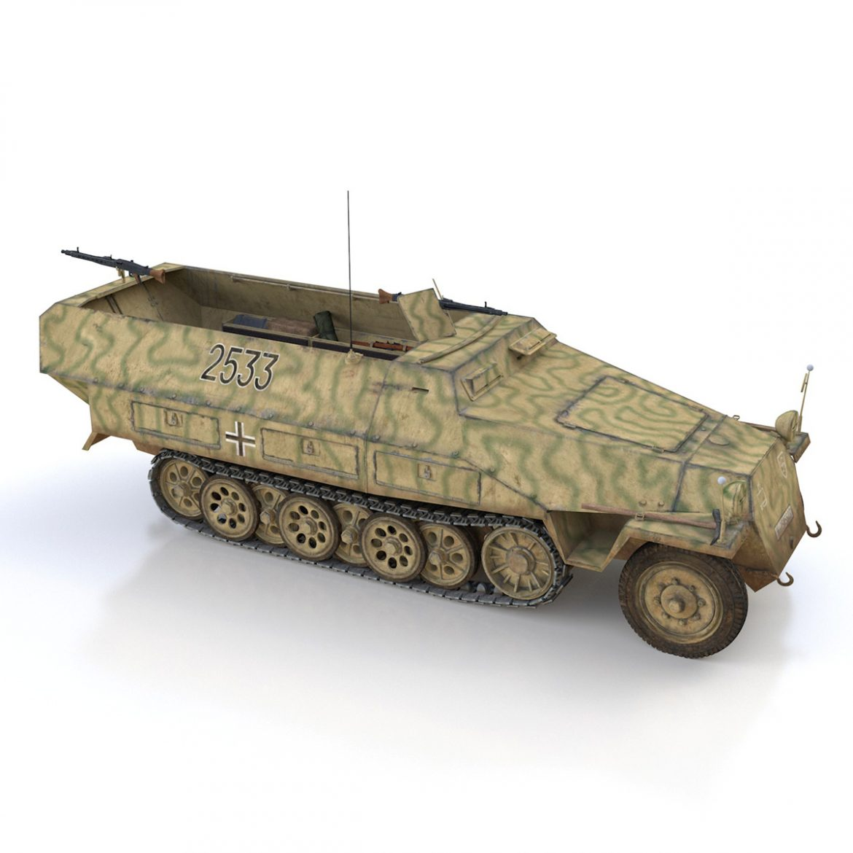 sd.kfz 251/1 ausf.d – half-track – 2533 3d model 3ds fbx c4d lwo obj 302616