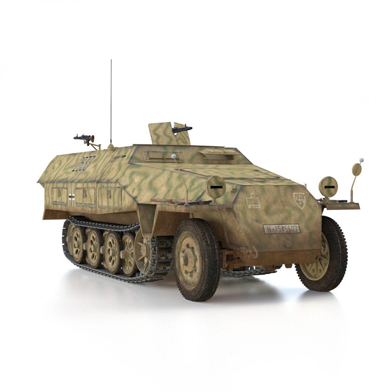 sd.kfz 251/1 ausf.d – half-track – 2533 3d model 3ds fbx c4d lwo obj 302617