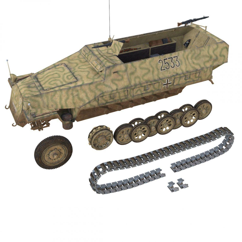 sd.kfz 251/1 ausf.d – half-track – 2533 3d model 3ds fbx c4d lwo obj 302618