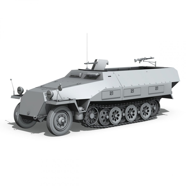 sd.kfz 251/1 ausf.d – half-track – 2533 3d model 3ds fbx c4d lwo obj 302620
