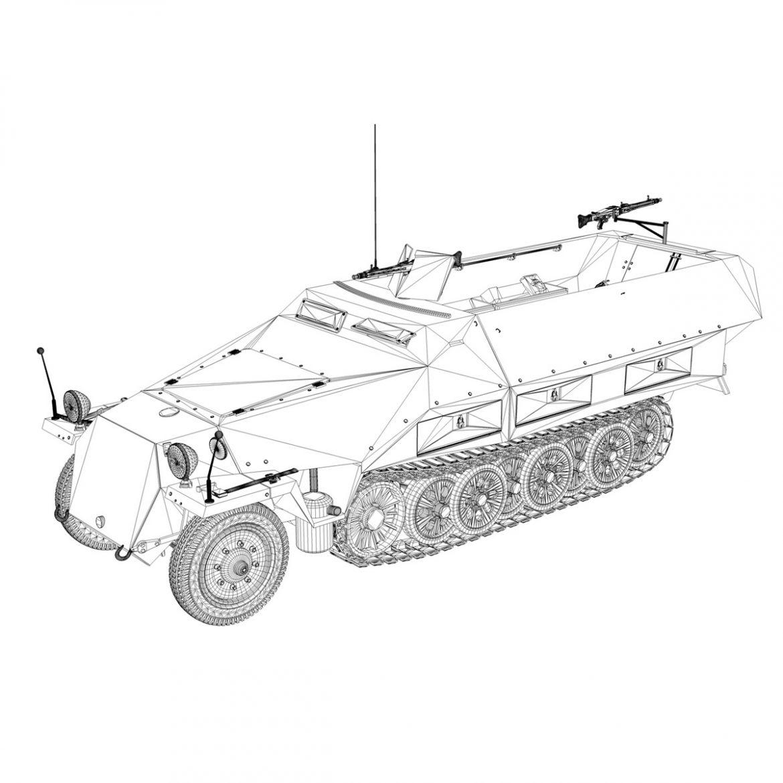 sd.kfz 251/1 ausf.d – half-track – 2533 3d model 3ds fbx c4d lwo obj 302621