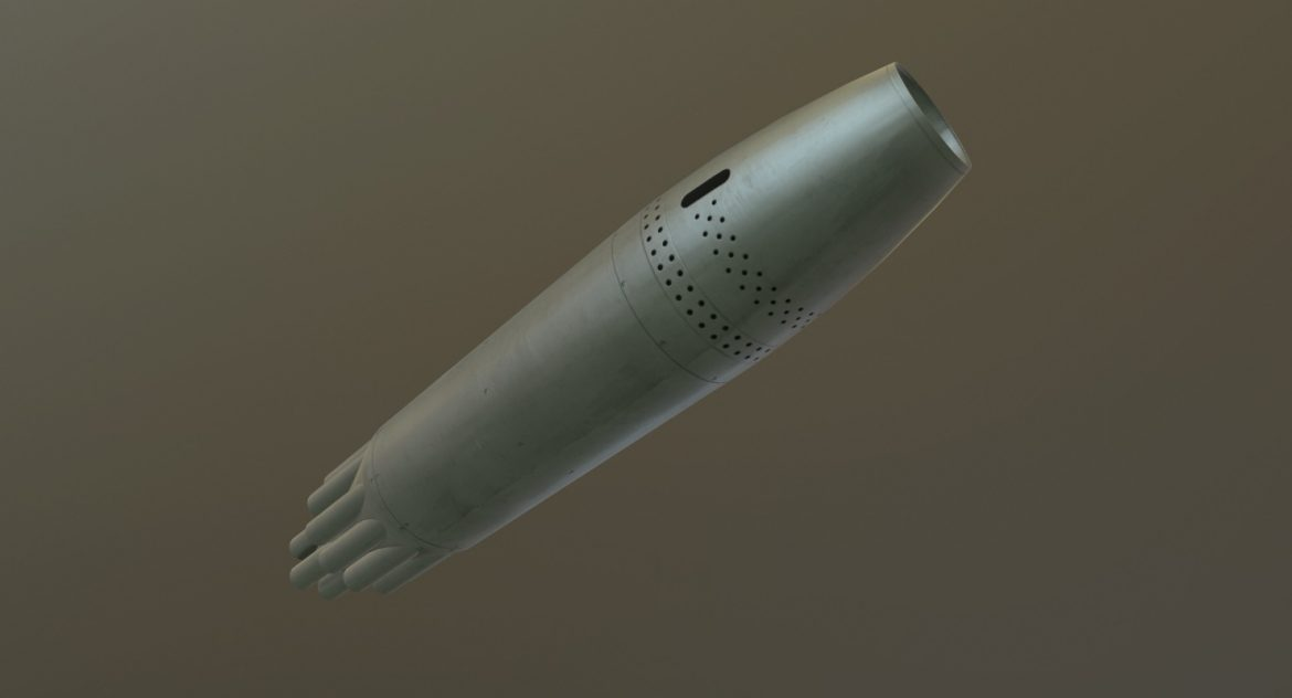 rocket launcher ub-16-57kv 3d model 3ds max fbx obj 302704