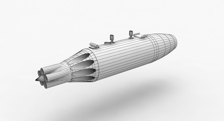 rocket launcher ub-16-57um 3d model 3ds max fbx obj 302741