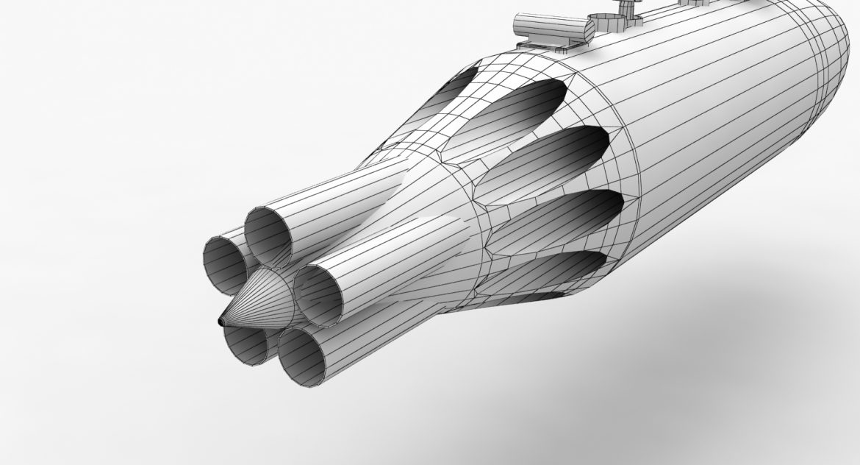 rocket launcher ub-16-57um 3d model 3ds max fbx obj 302744