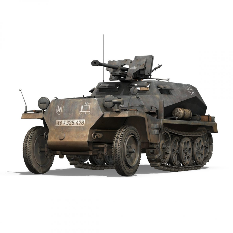 sd.kfz 250 / 11 - halftruck - 2 ss-pzdiv Samhail 3d 3ds fbx c4d lwo obj 302769