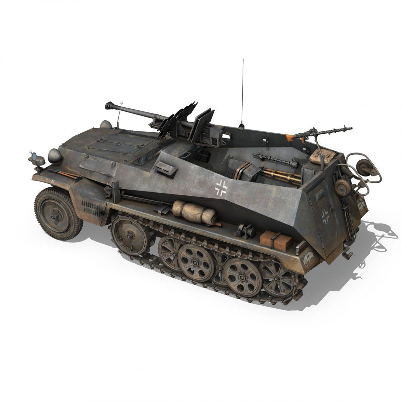 sd.kfz 250 / 11 - halftruck - 2 ss-pzdiv Samhail 3d 3ds fbx c4d lwo obj 302771