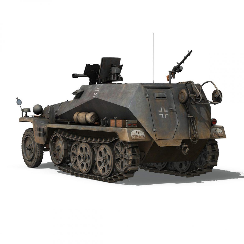 sd.kfz 250 / 11 - halftruck - 2 ss-pzdiv Samhail 3d 3ds fbx c4d lwo obj 302772