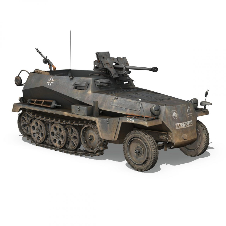 sd.kfz 250 / 11 - halftruck - 2 ss-pzdiv Samhail 3d 3ds fbx c4d lwo obj 302774