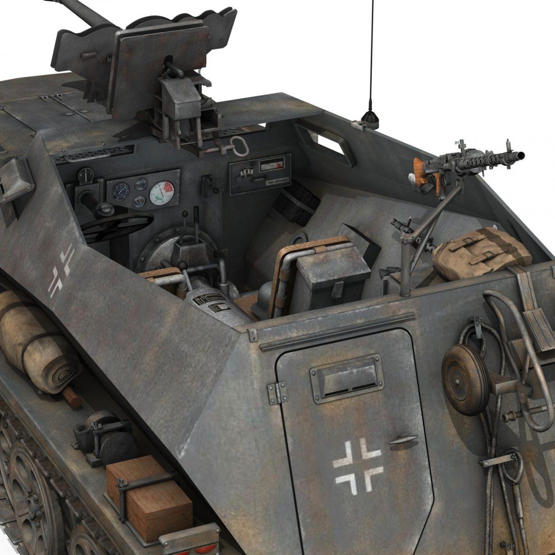 sd.kfz 250 / 11 - halftruck - 2 ss-pzdiv Samhail 3d 3ds fbx c4d lwo obj 302776