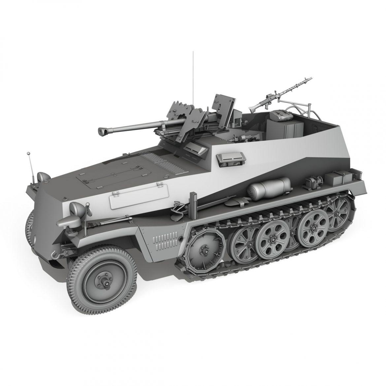 sd.kfz 250 / 11 - halftruck - 2 ss-pzdiv Samhail 3d 3ds fbx c4d lwo obj 302779
