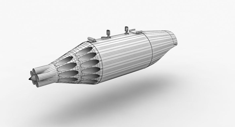 rocket launcher ub-32a-24 3d model 3ds max fbx obj 302827