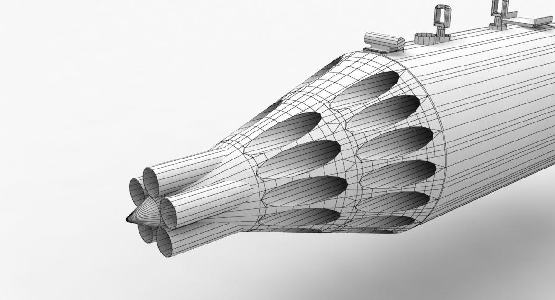 rocket launcher ub-32a-24 3d model 3ds max fbx obj 302830