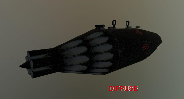 rocket launcher ub-32a-24 3d model 3ds max fbx obj 302833