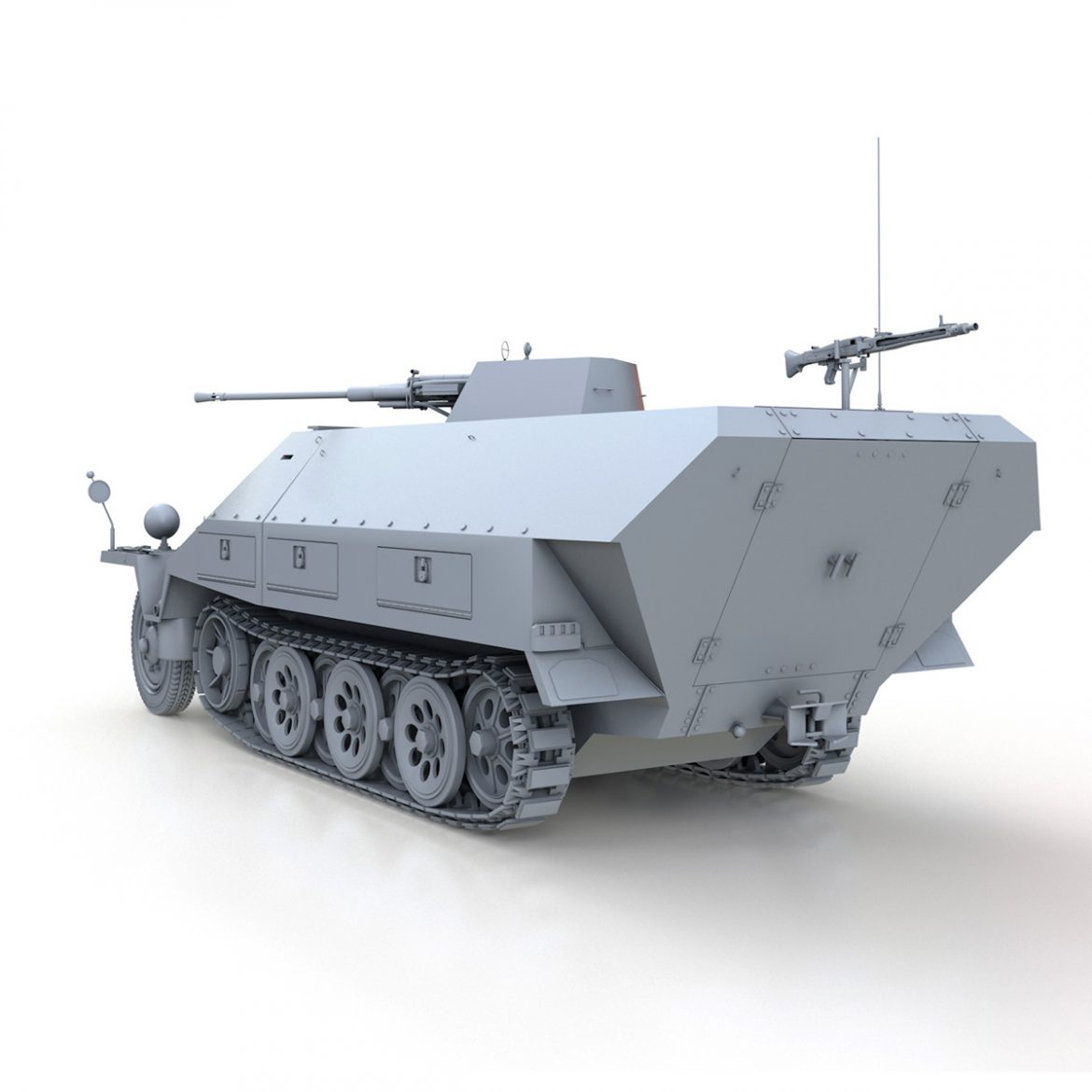 sd.kfz 251/17 ausf.d – anti-aircraft vehicle 3d model 3ds fbx c4d lwo obj 302950