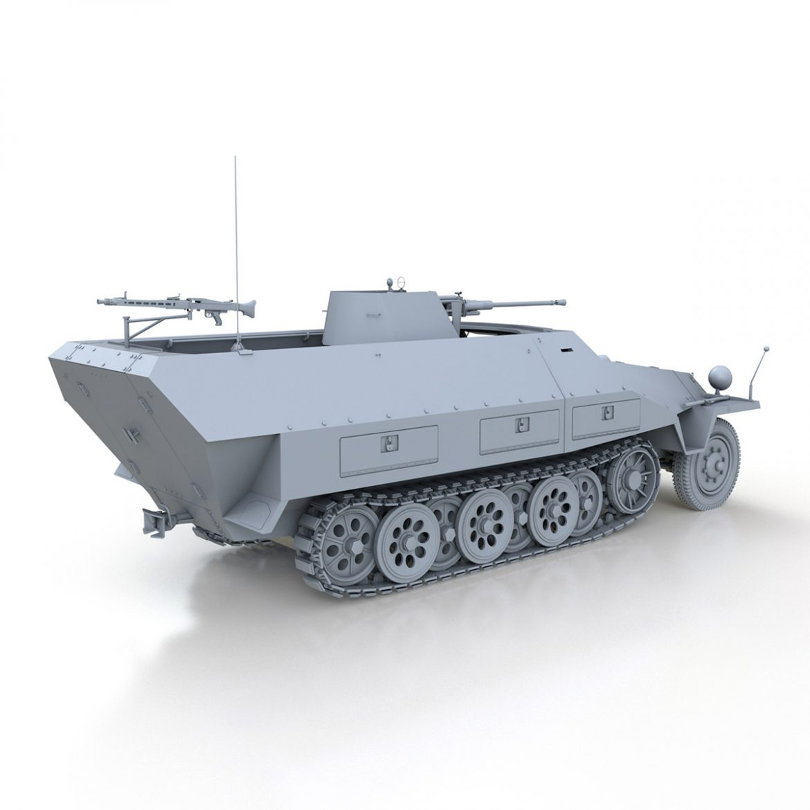 sd.kfz 251/17 ausf.d – anti-aircraft vehicle 3d model 3ds fbx c4d lwo obj 302953