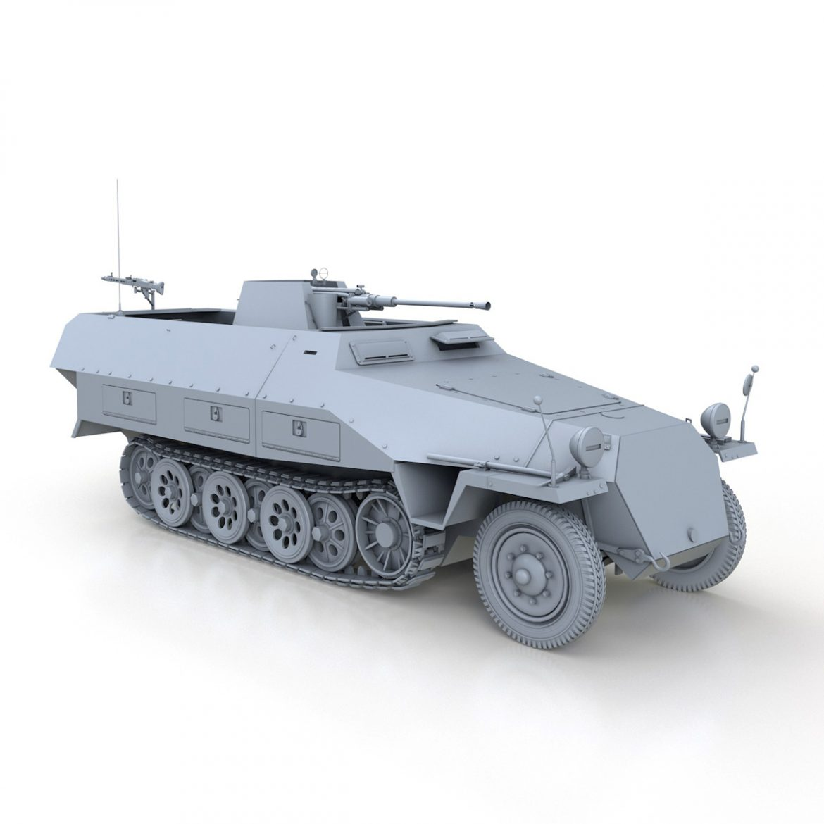 sd.kfz 251/17 ausf.d – anti-aircraft vehicle 3d model 3ds fbx c4d lwo obj 302955