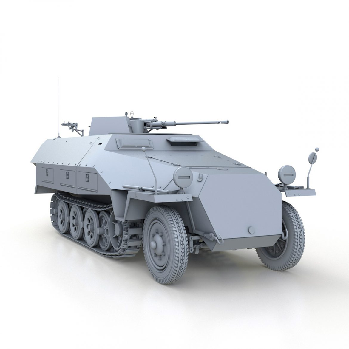 sd.kfz 251/17 ausf.d – anti-aircraft vehicle 3d model 3ds fbx c4d lwo obj 302956