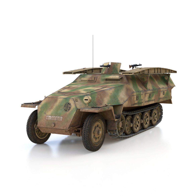 sd.kfz 251 ausf.d – assault engineer vehicle – 542 3d model 3ds fbx c4d lwo obj 302970