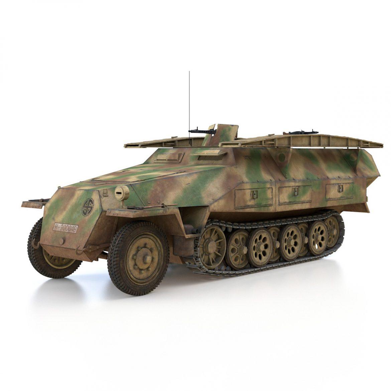 sd.kfz 251 ausf.d – assault engineer vehicle – 542 3d model 3ds fbx c4d lwo obj 302971