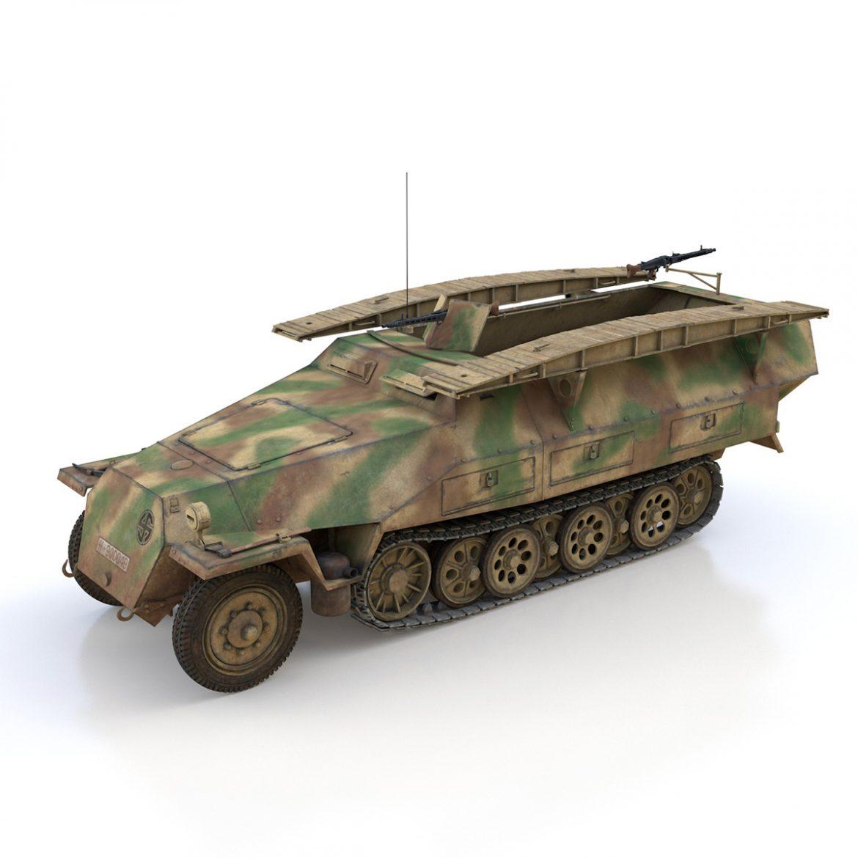 sd.kfz 251 ausf.d – assault engineer vehicle – 542 3d model 3ds fbx c4d lwo obj 302972