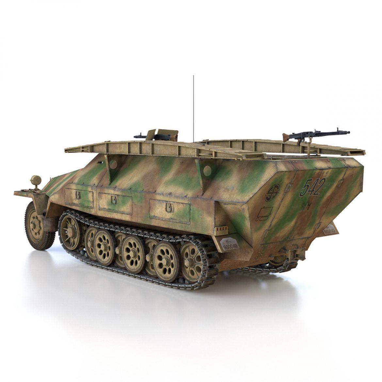 sd.kfz 251 ausf.d – assault engineer vehicle – 542 3d model 3ds fbx c4d lwo obj 302973
